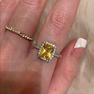 Canary Yellow Diamond CZ Ring